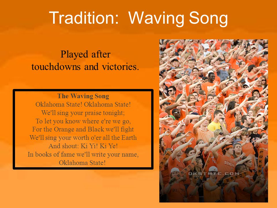 Tradition: Waving Song