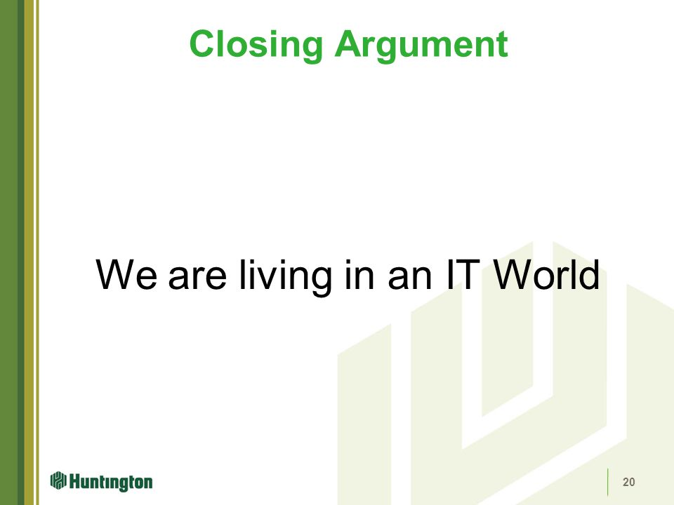 We are living in an IT World