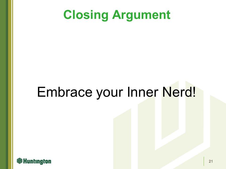 Embrace your Inner Nerd!