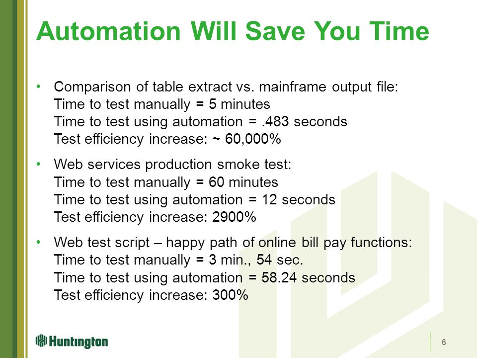 Automation Will Save You Time
