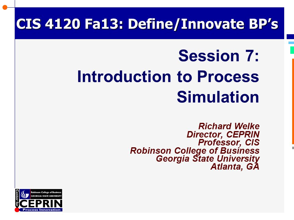 Session 7: Introduction to Process Simulation