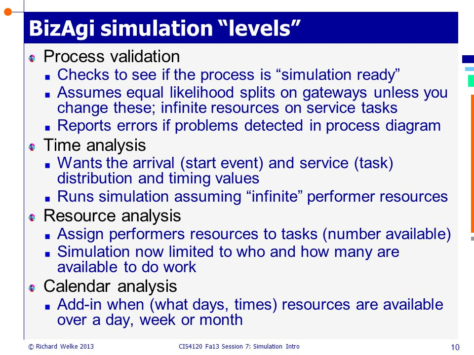 BizAgi simulation levels