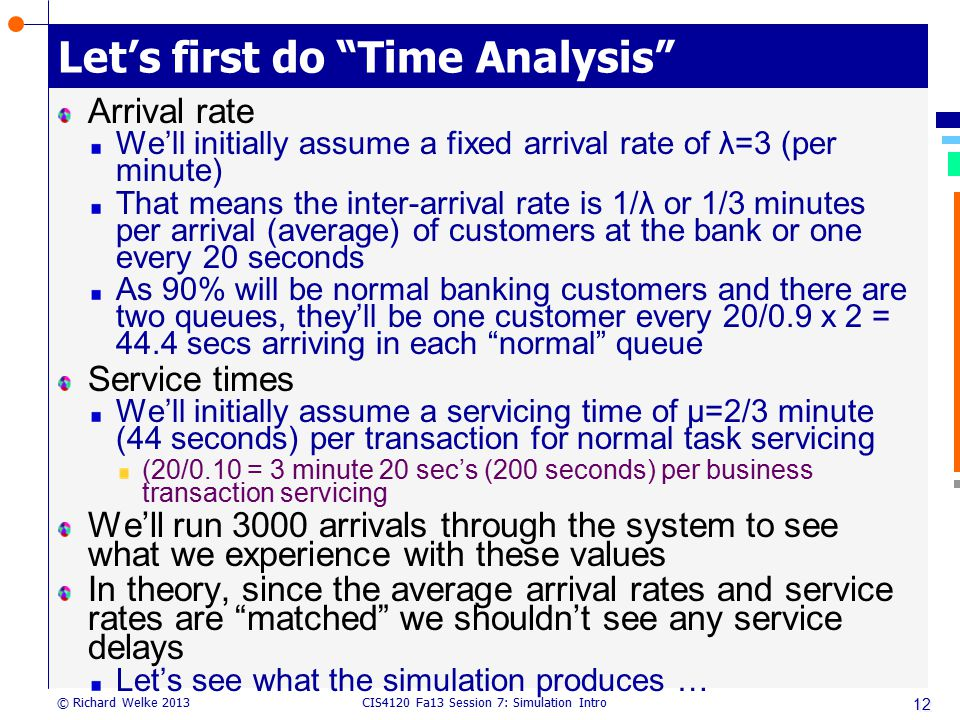 Let's first do Time Analysis