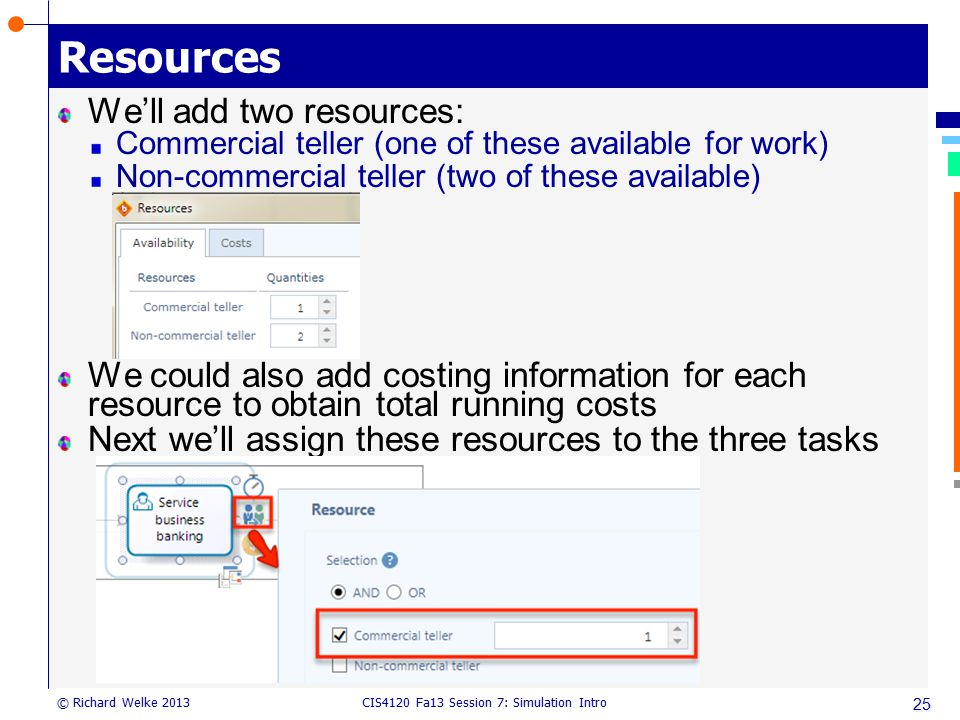 Resources We'll add two resources: