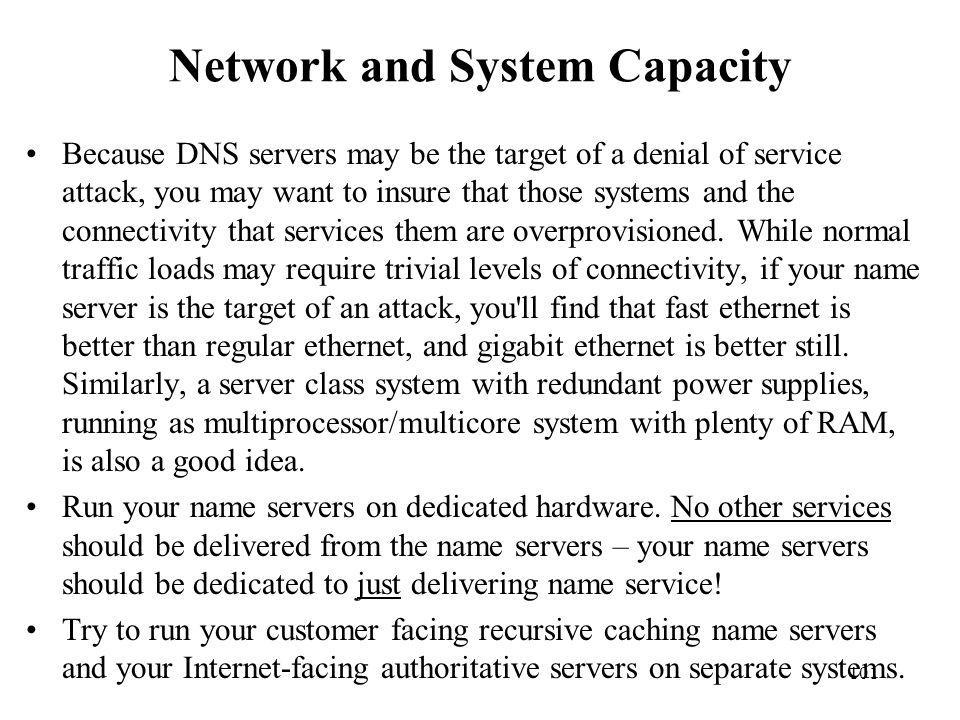 Network and System Capacity