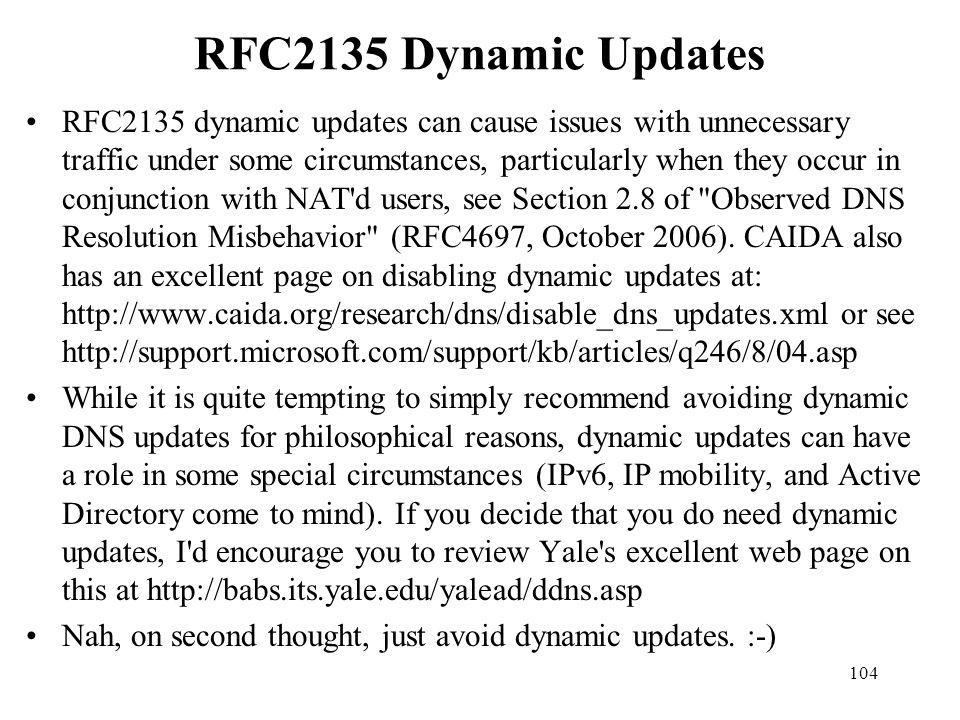 RFC2135 Dynamic Updates