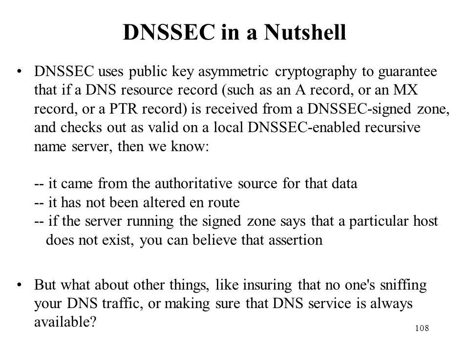 DNSSEC in a Nutshell