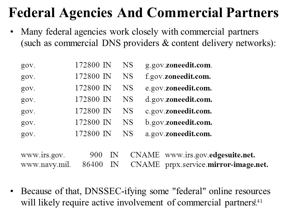 Federal Agencies And Commercial Partners