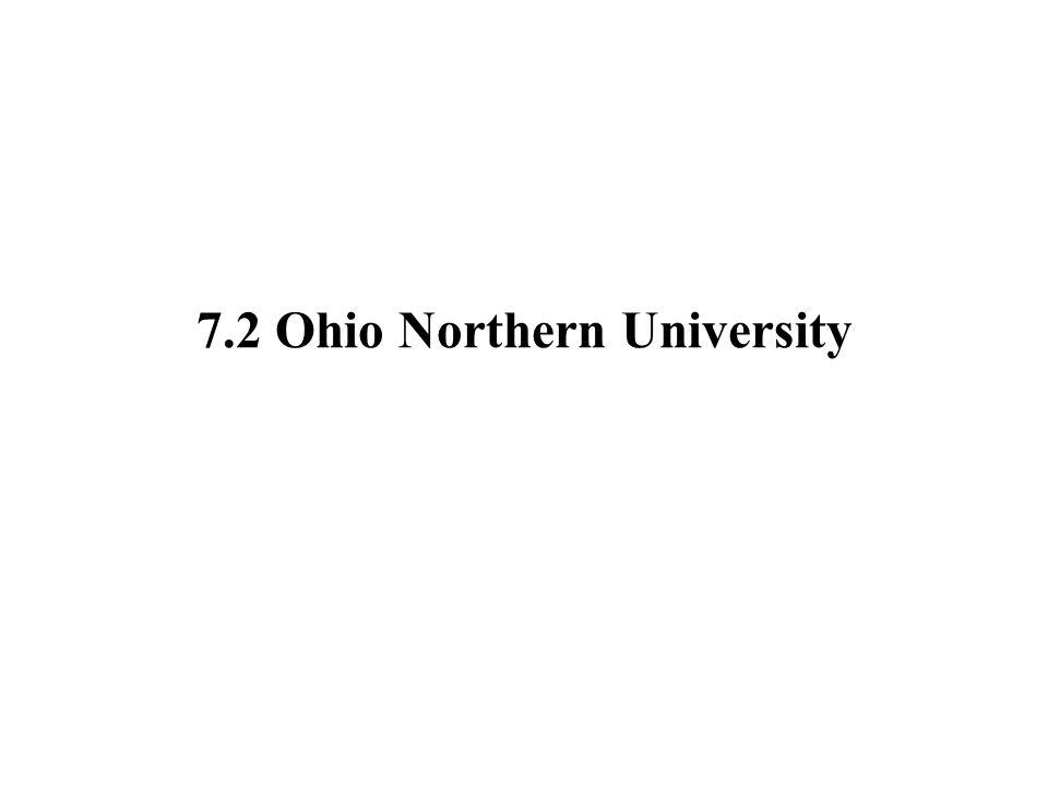 7.2 Ohio Northern University