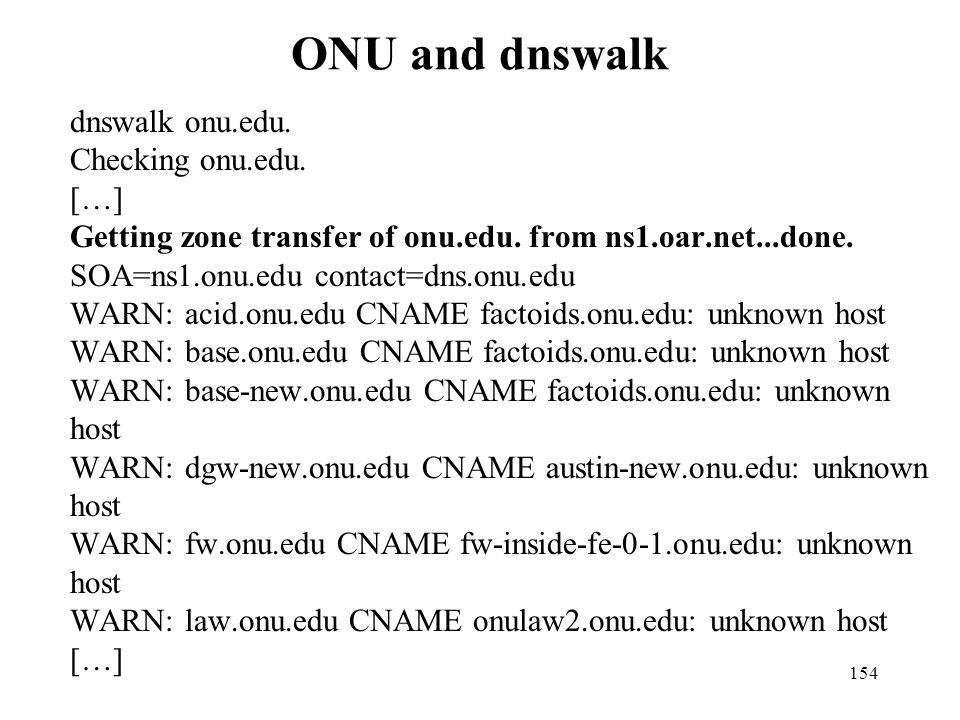 ONU and dnswalk