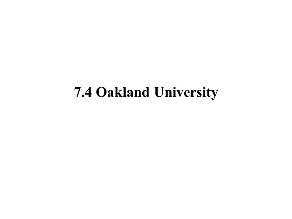 7.4 Oakland University