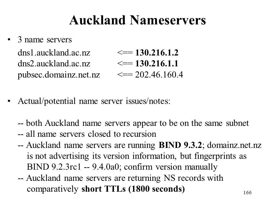 Auckland Nameservers 3 name servers