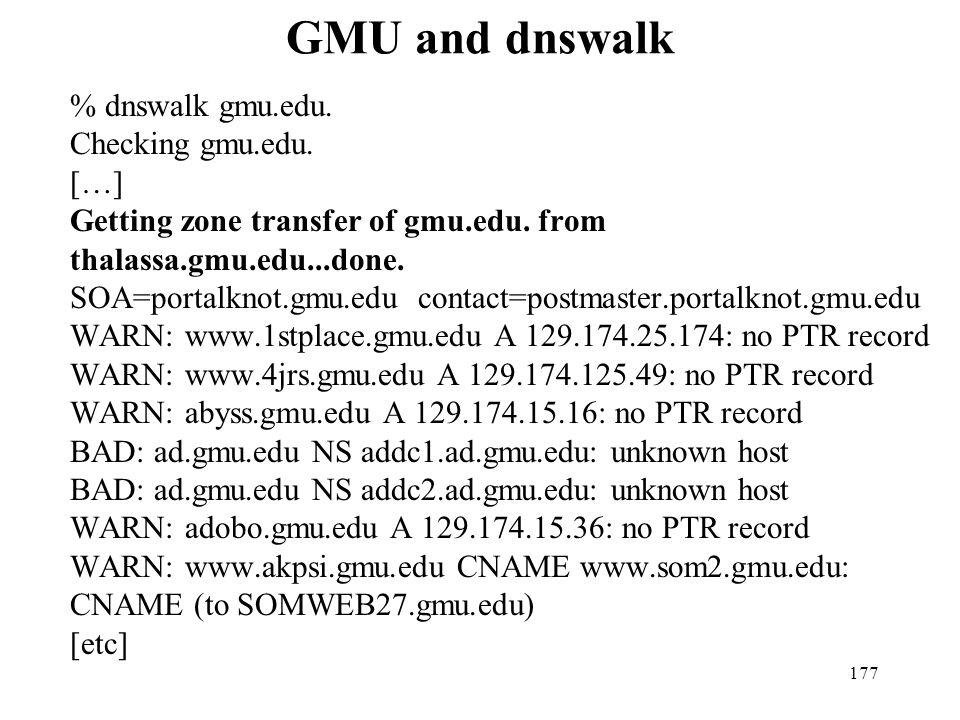 GMU and dnswalk