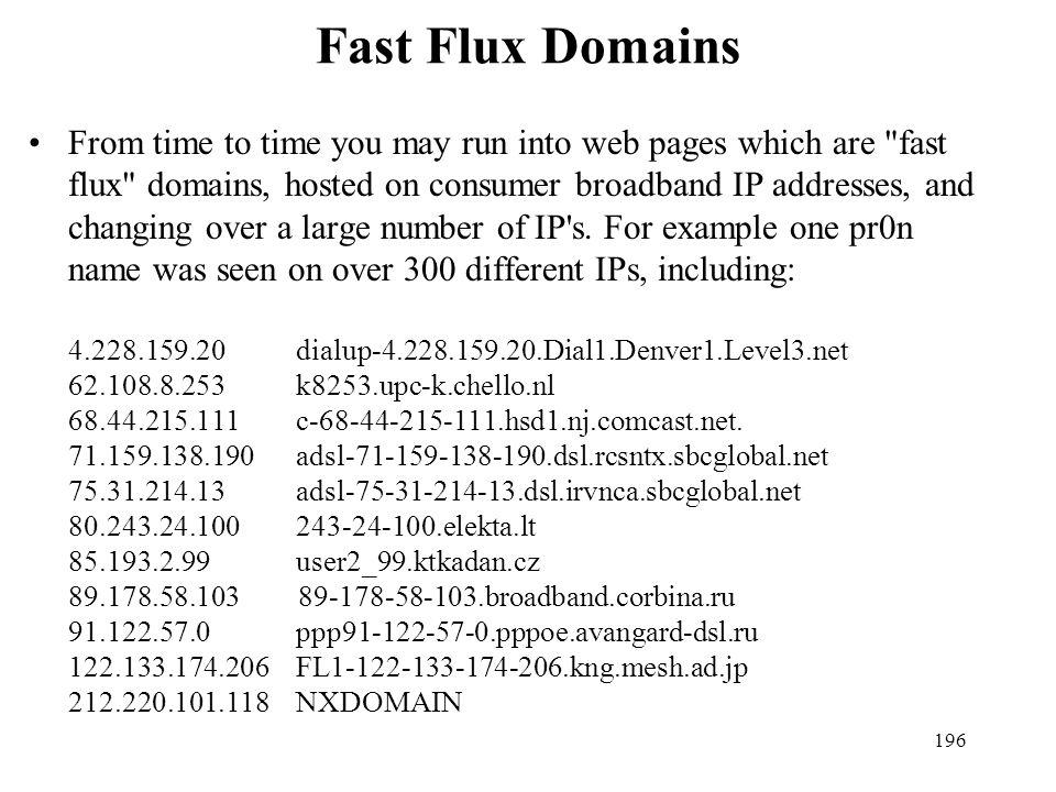 Fast Flux Domains