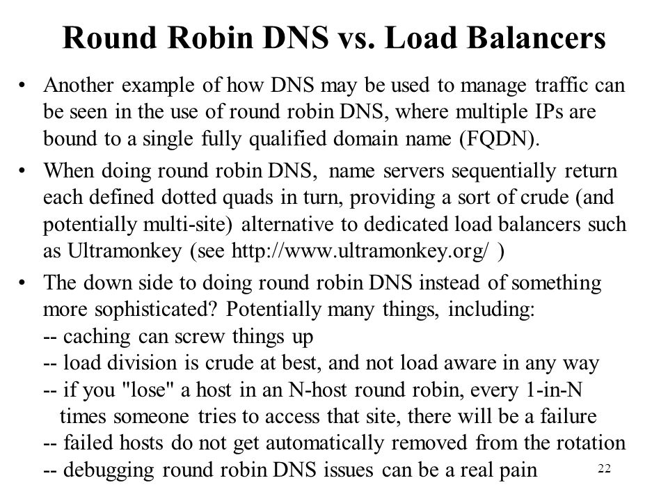 Round Robin DNS vs. Load Balancers