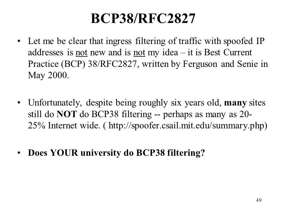 BCP38/RFC2827