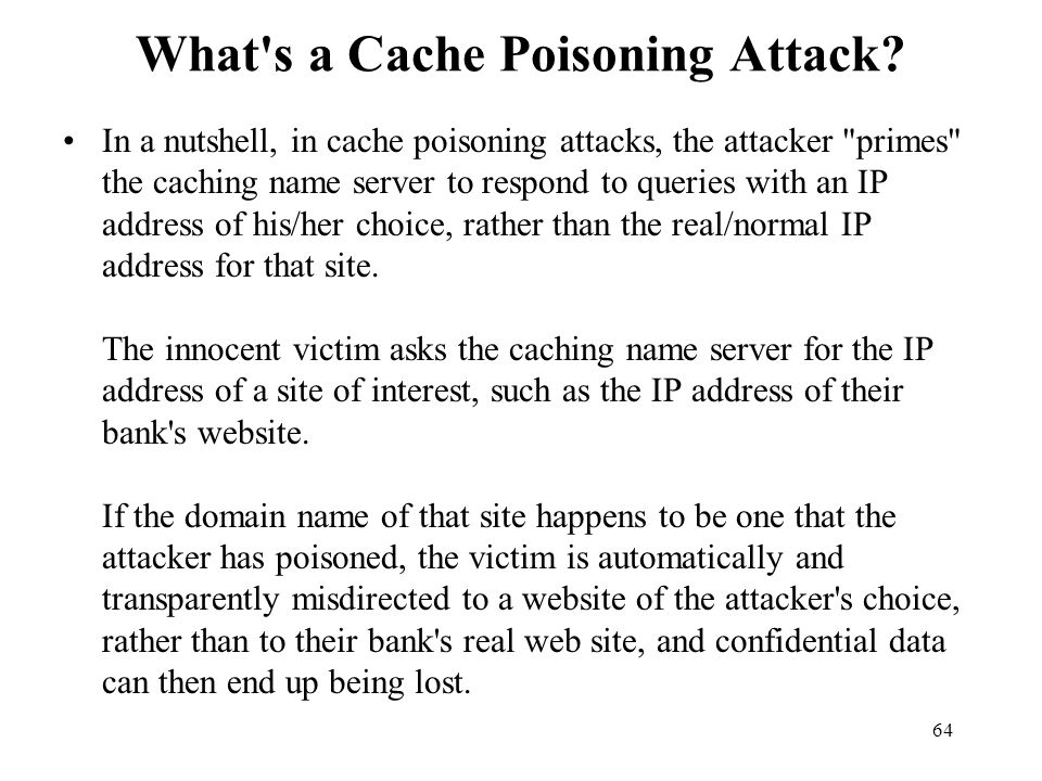 What s a Cache Poisoning Attack
