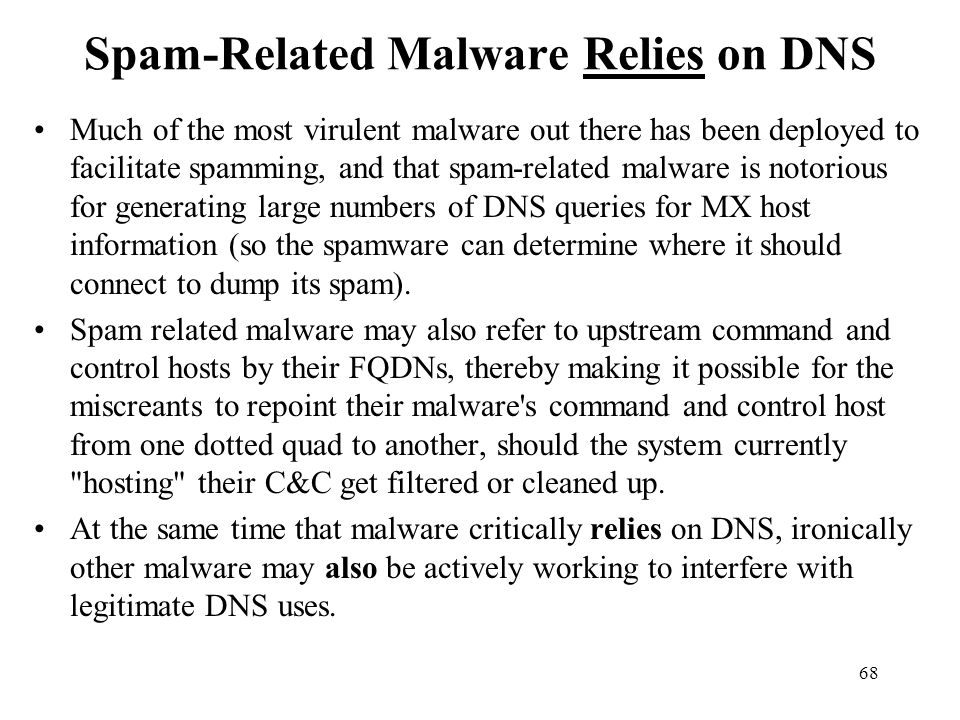 Spam-Related Malware Relies on DNS