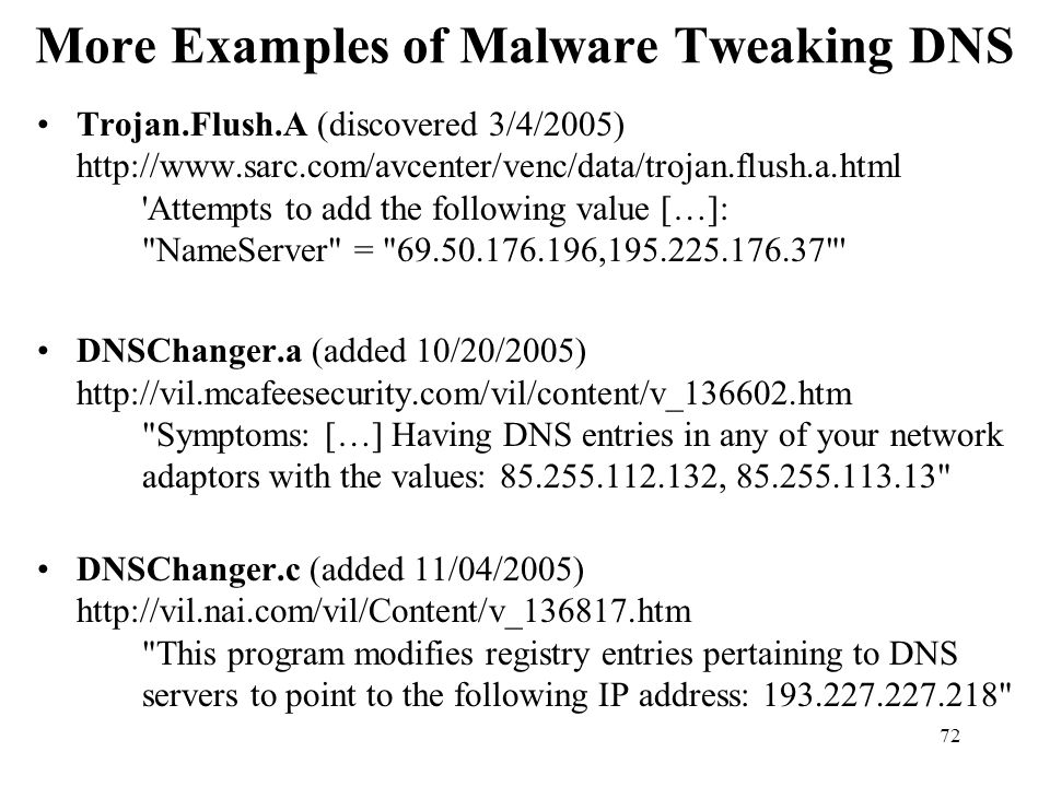 More Examples of Malware Tweaking DNS