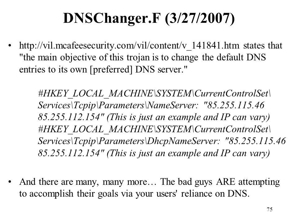 DNSChanger.F (3/27/2007)