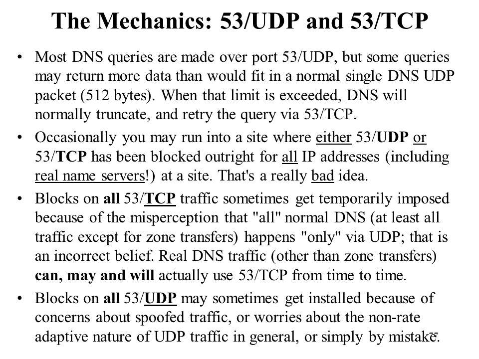 The Mechanics: 53/UDP and 53/TCP