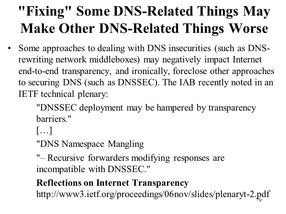 Fixing Some DNS-Related Things May Make Other DNS-Related Things Worse