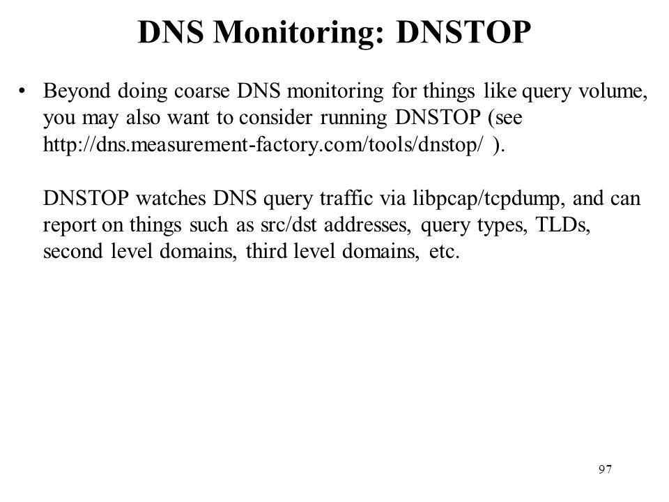 DNS Monitoring: DNSTOP