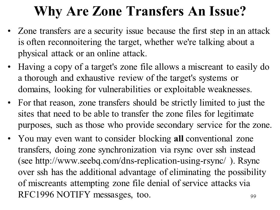 Why Are Zone Transfers An Issue