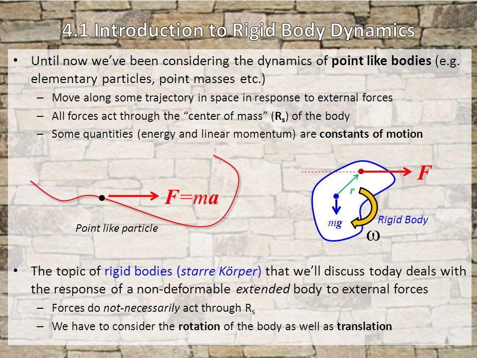 4.1 Introduction to Rigid Body Dynamics