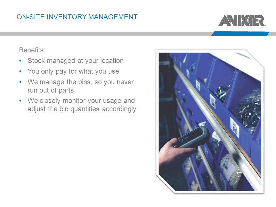 On-site inventory management