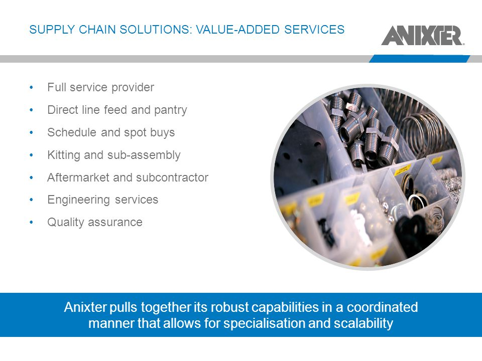 SUPPLY CHAIN SOLUTIONS: VALUE-ADDED SERVICES
