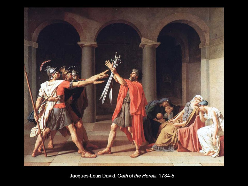Jacques-Louis David, Oath of the Horatii, 1784-5