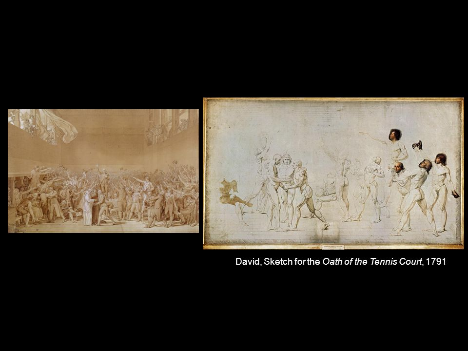 David, Sketch for the Oath of the Tennis Court, 1791