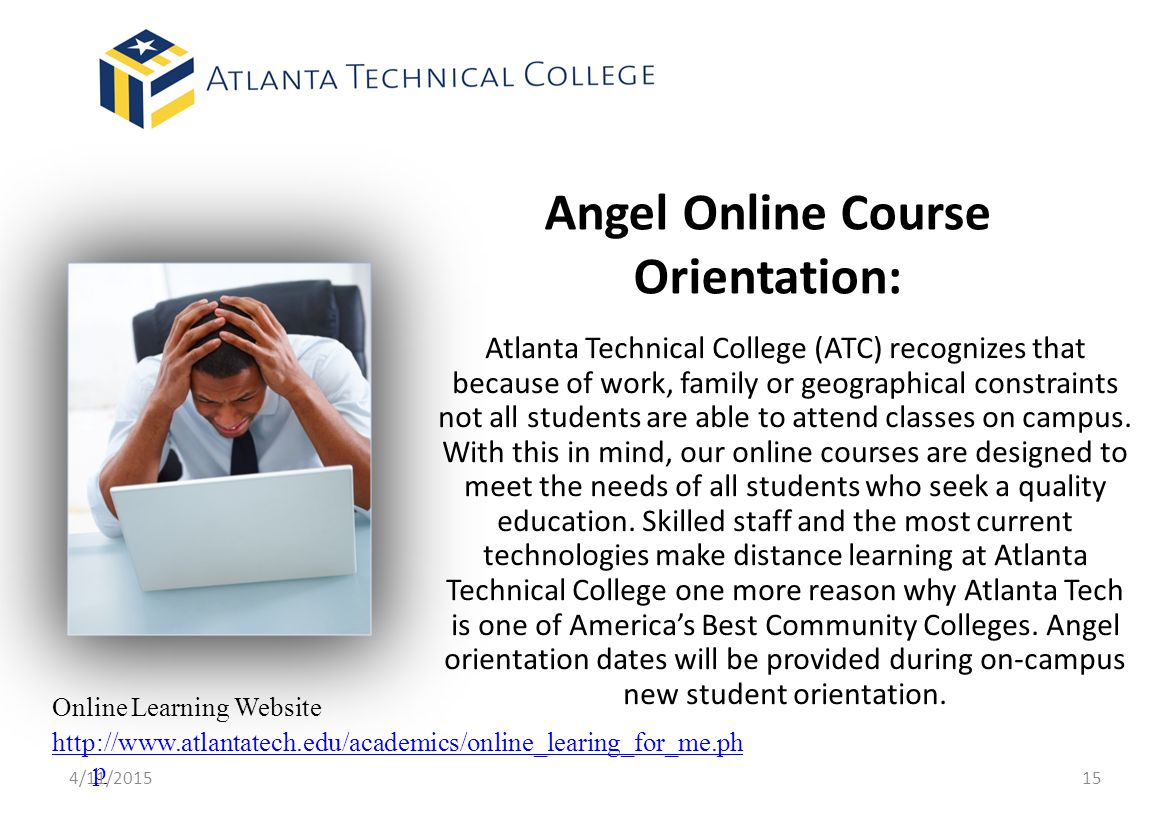 Angel Online Course Orientation: