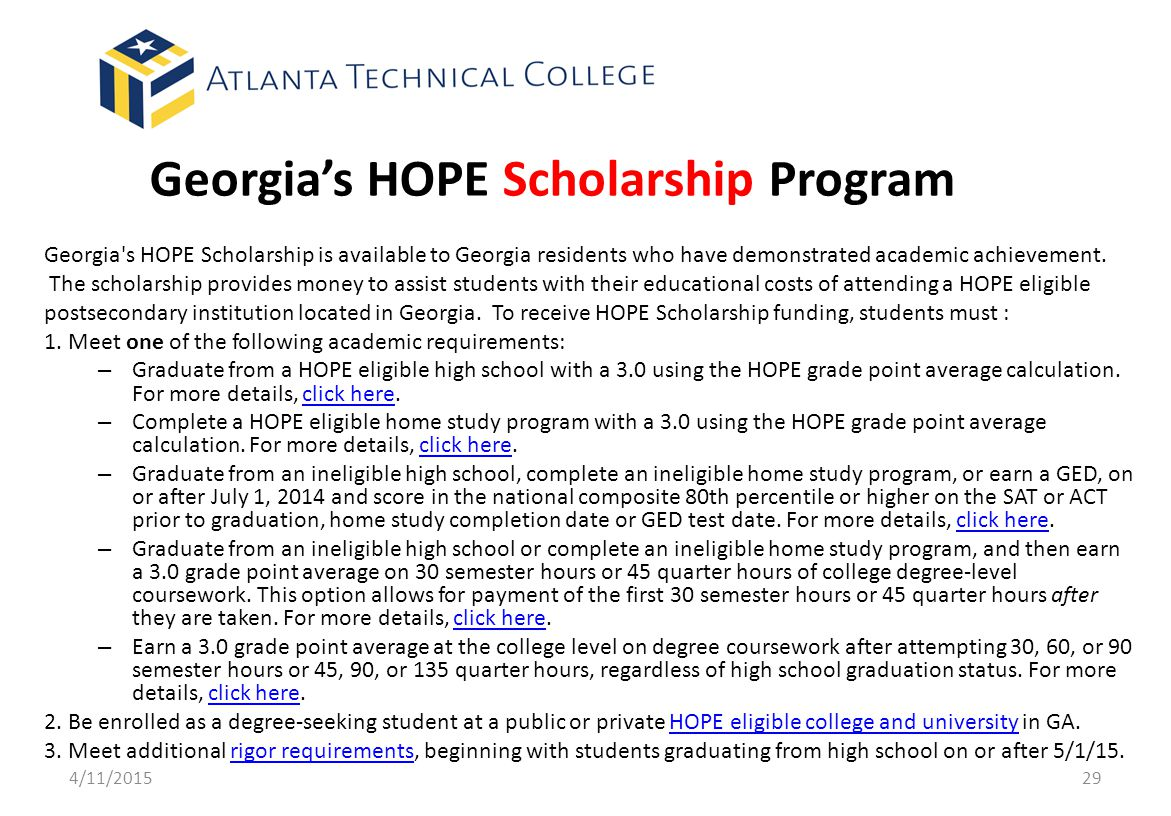 Georgia's HOPE Scholarship Program