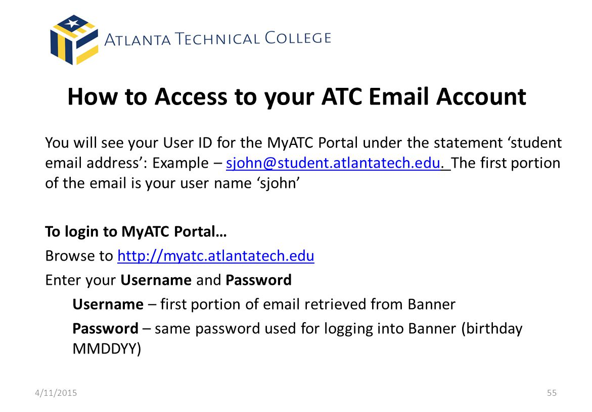 How to Access to your ATC Email Account