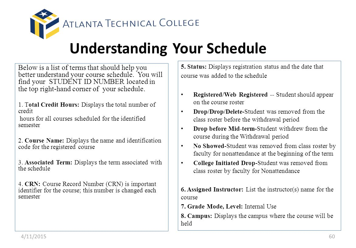 Understanding Your Schedule