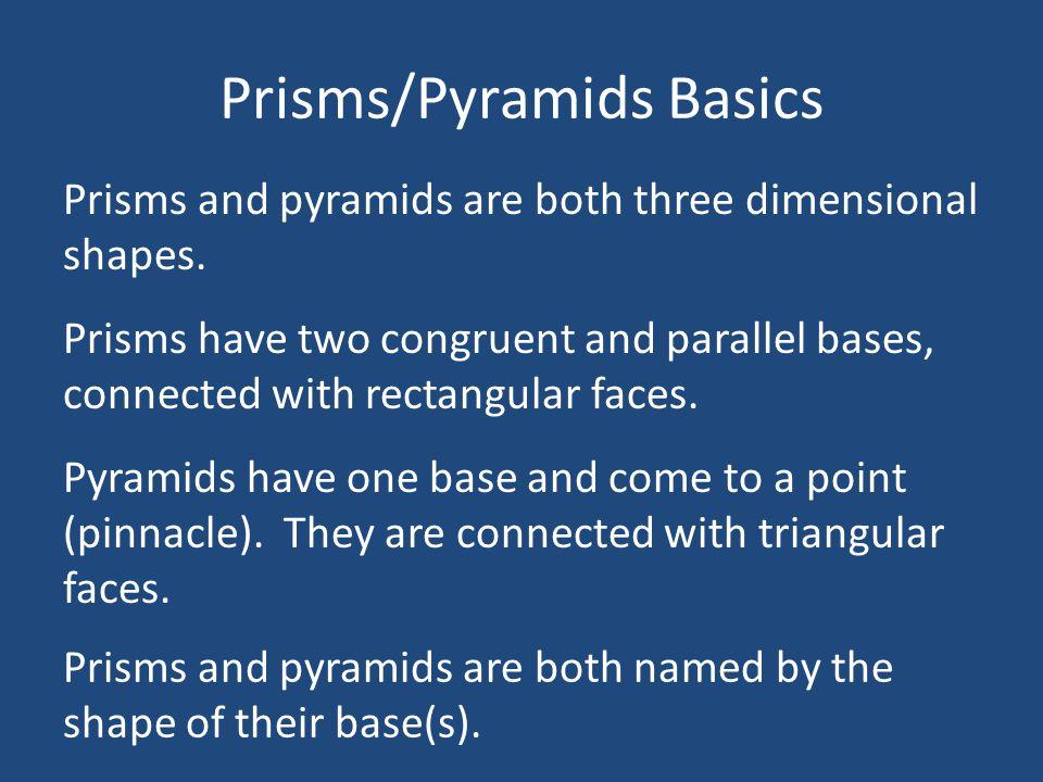 Prisms/Pyramids Basics