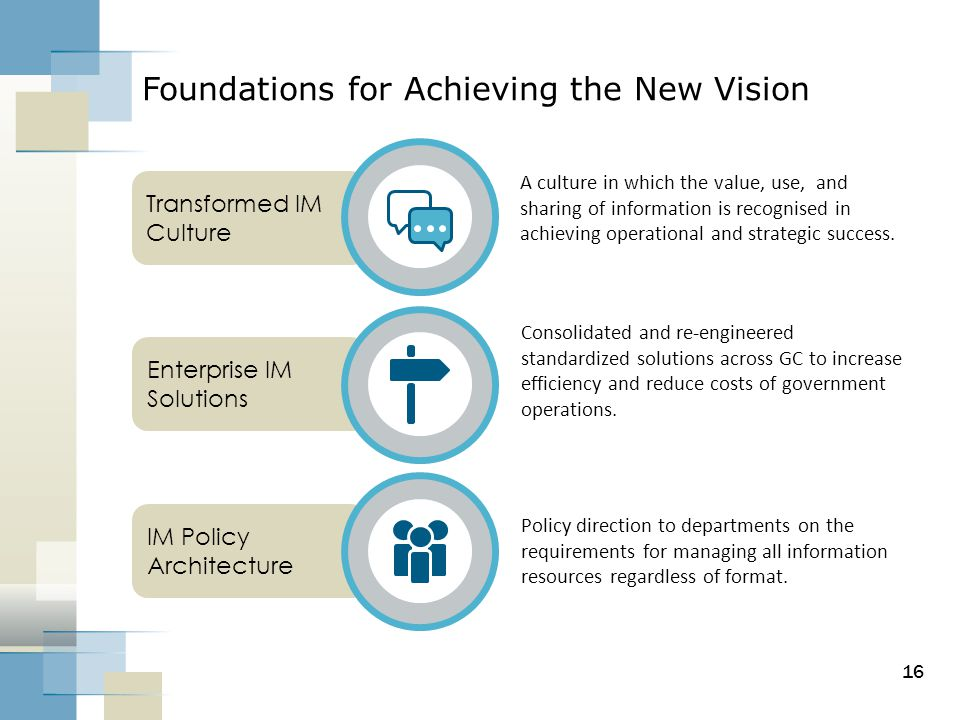 Foundations for Achieving the New Vision