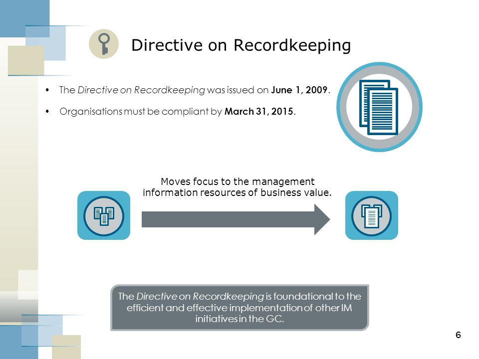 Directive on Recordkeeping