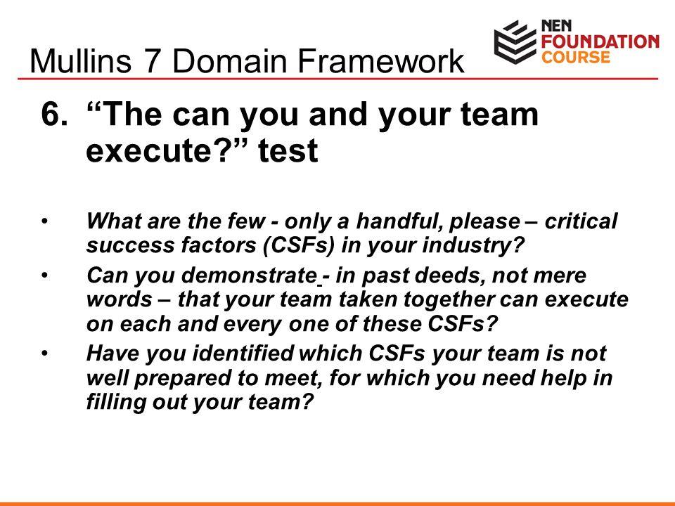 Mullins 7 Domain Framework