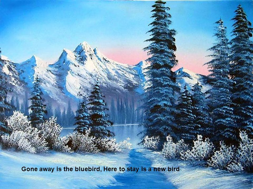 Gone away is the bluebird, Here to stay is a new bird