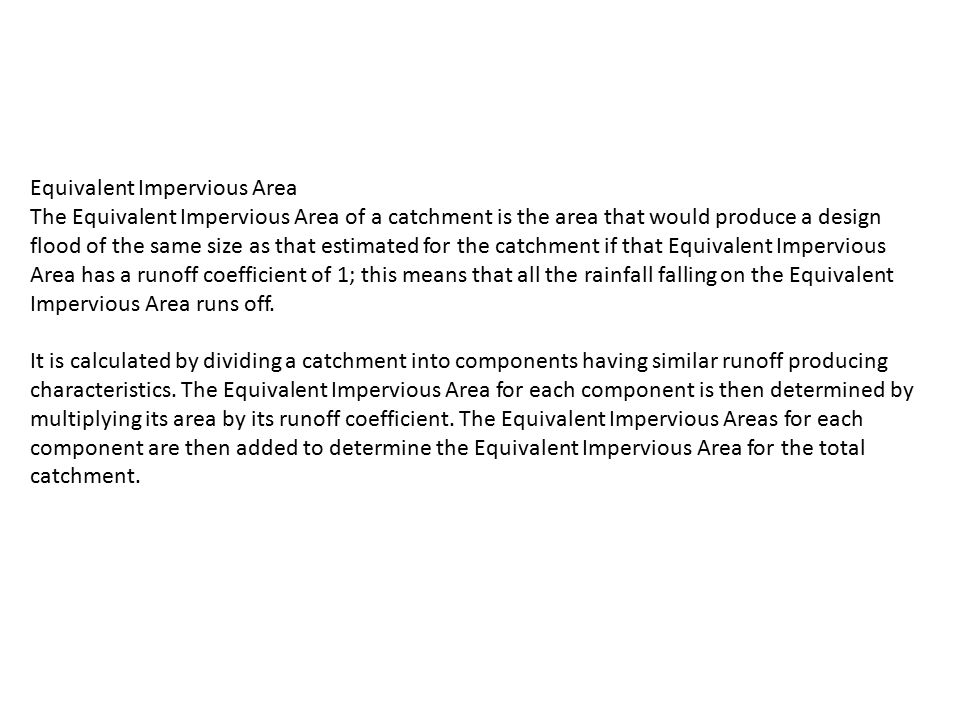 Equivalent Impervious Area