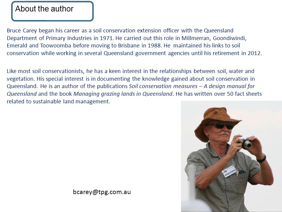About the author About the author bcarey@tpg.com.au