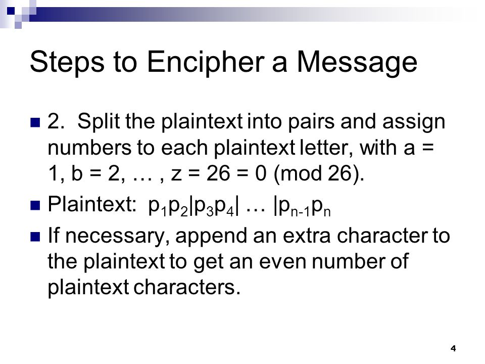 Steps to Encipher a Message