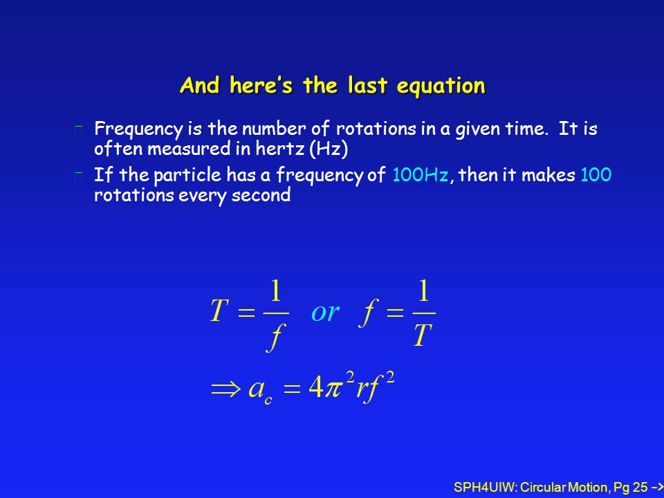 And here's the last equation