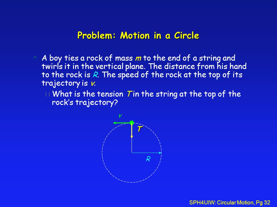 Problem: Motion in a Circle