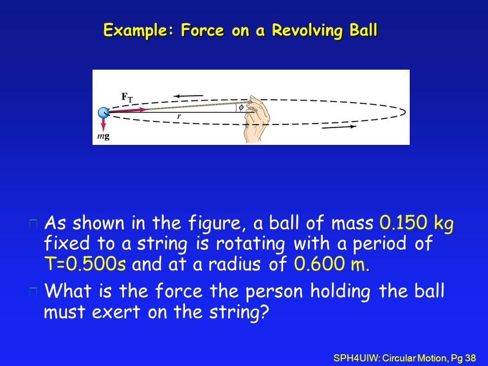 Example: Force on a Revolving Ball