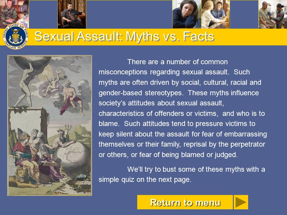 Sexual Assault: Myths vs. Facts