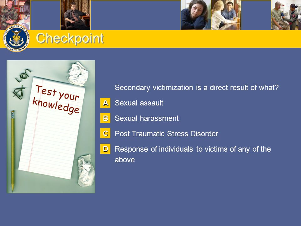 Checkpoint Test your knowledge Better look again! Great job!